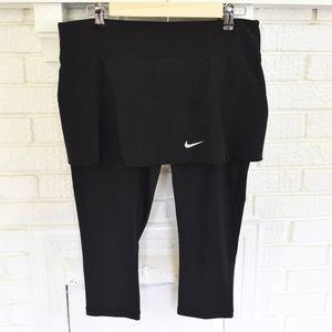 Nike Dri-Fit skirt with leggings black
